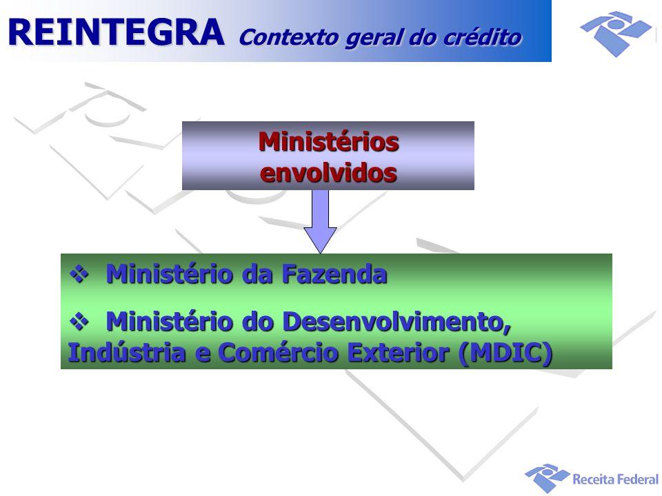 Ministérios envolvidos