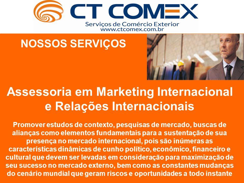 Assessoria em Marketing Internacional e Relações Internacionais