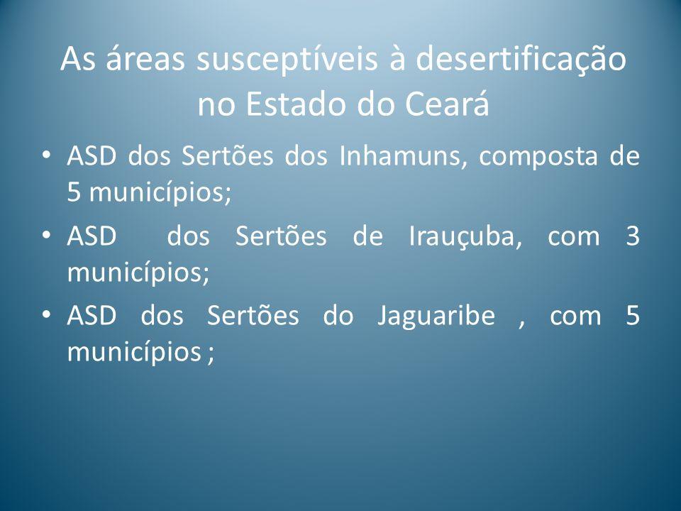As áreas susceptíveis à desertificação no Estado do Ceará