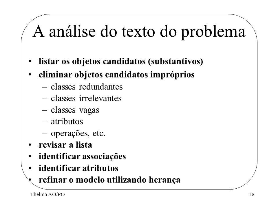 A análise do texto do problema
