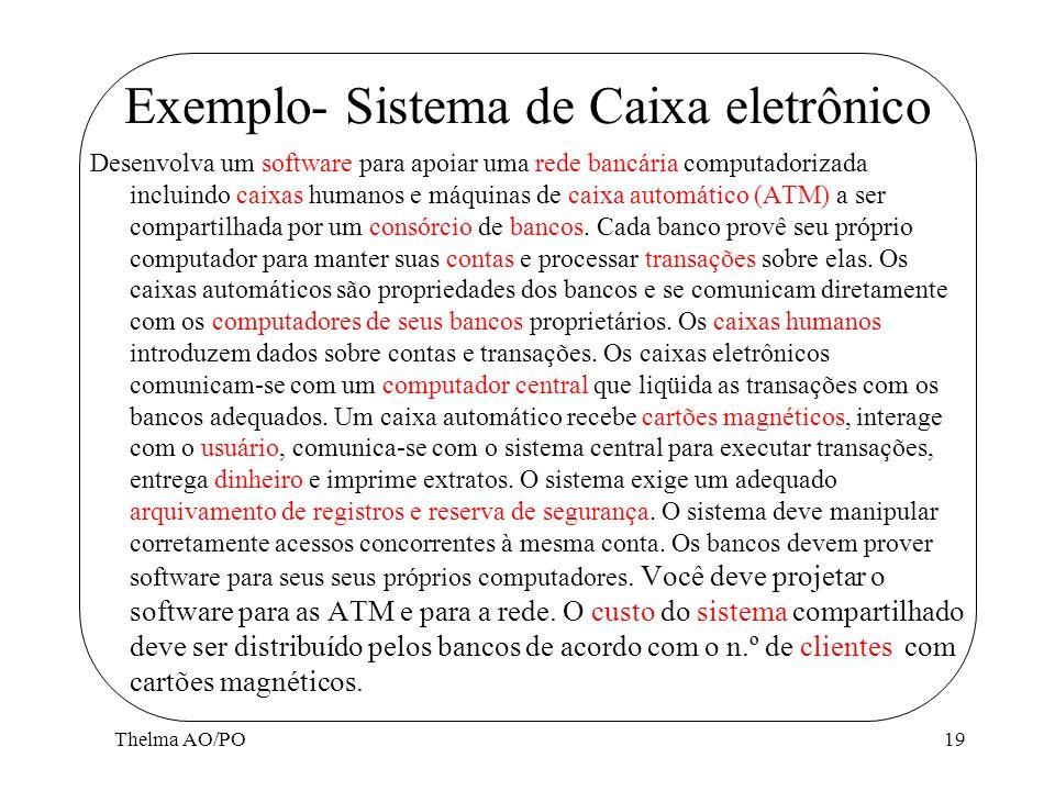 Exemplo- Sistema de Caixa eletrônico