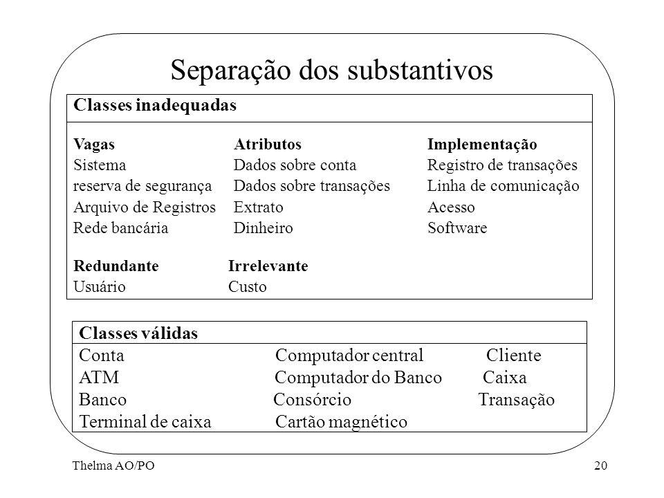 Separação dos substantivos