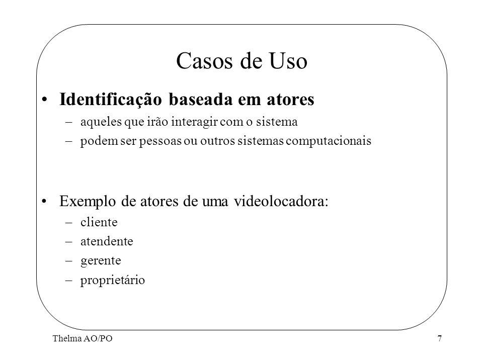 Casos de Uso Identificação baseada em atores