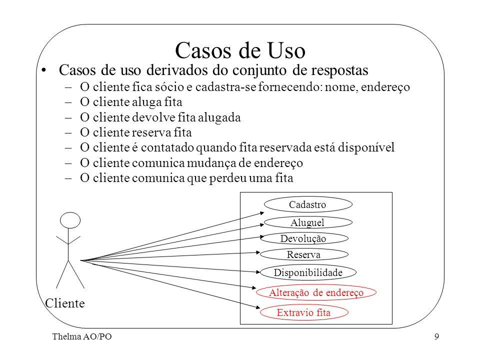Casos de Uso Casos de uso derivados do conjunto de respostas