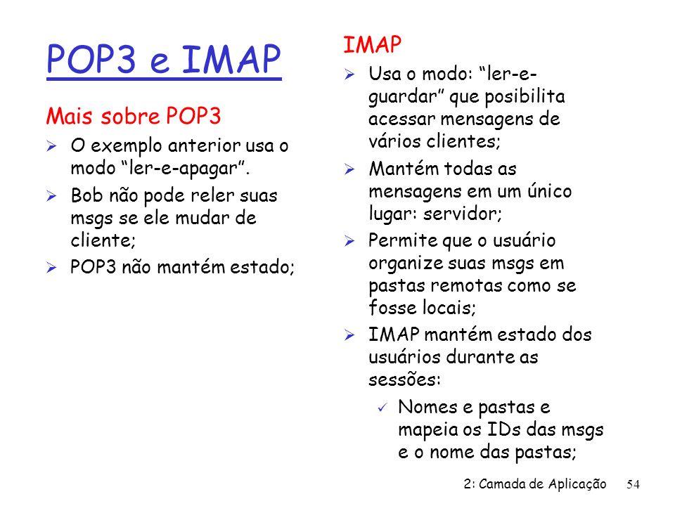 POP3 e IMAP IMAP Mais sobre POP3