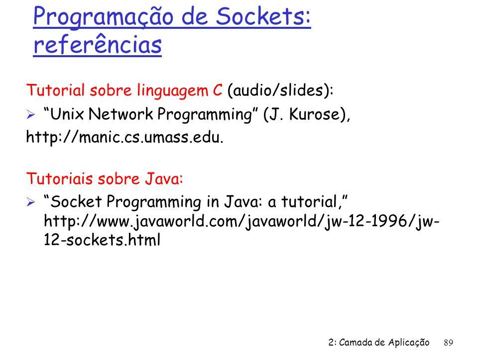 Programação de Sockets: referências