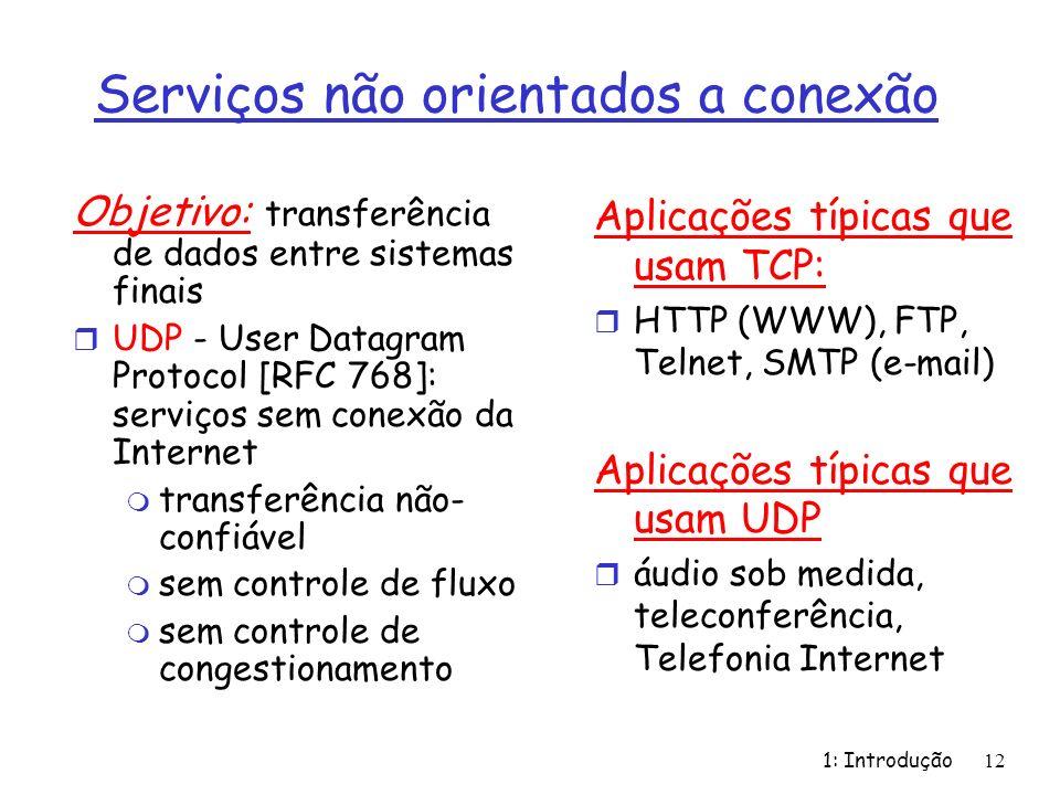 Serviços não orientados a conexão