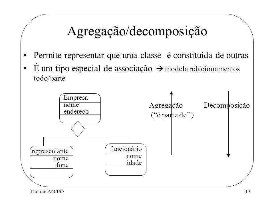 Agregação/decomposição