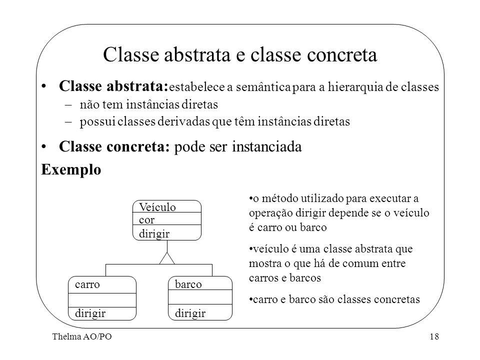 Classe abstrata e classe concreta