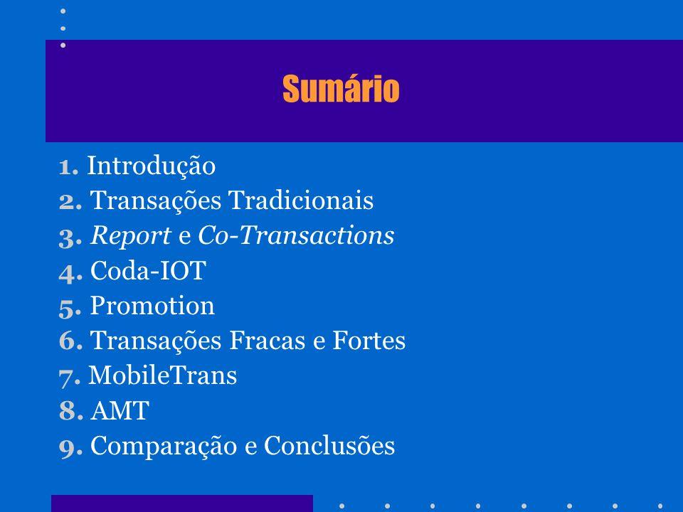 Sumário 1. Introdução 2. Transações Tradicionais