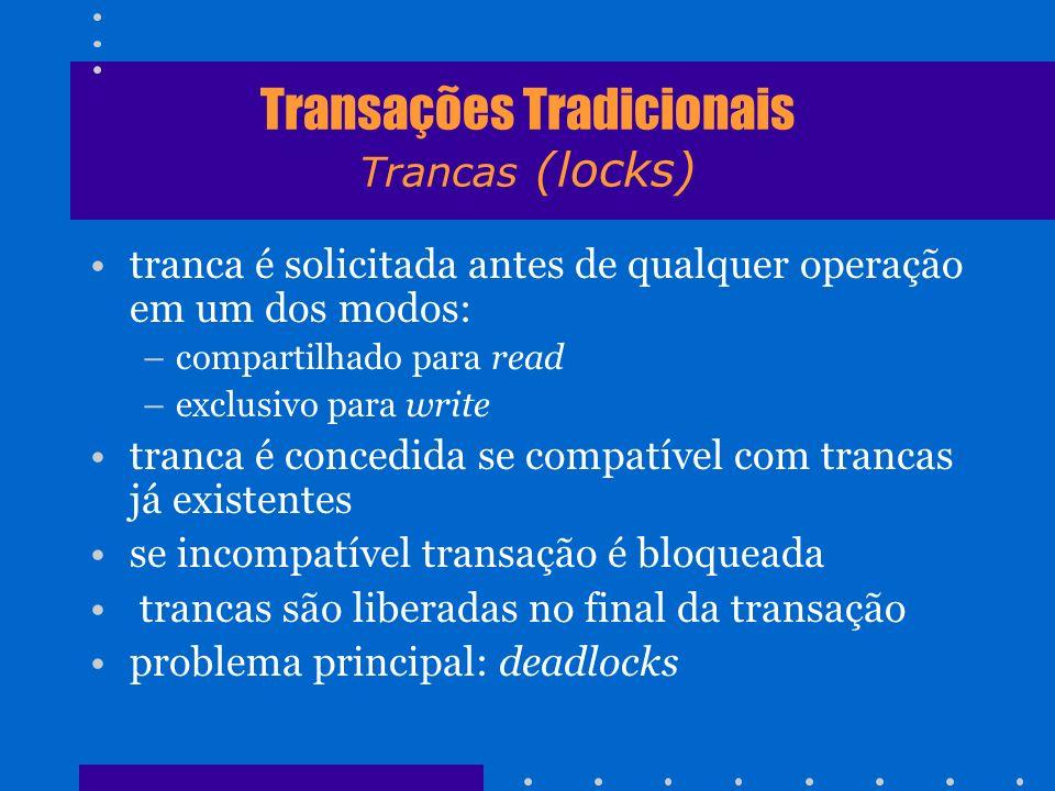 Transações Tradicionais Trancas (locks)
