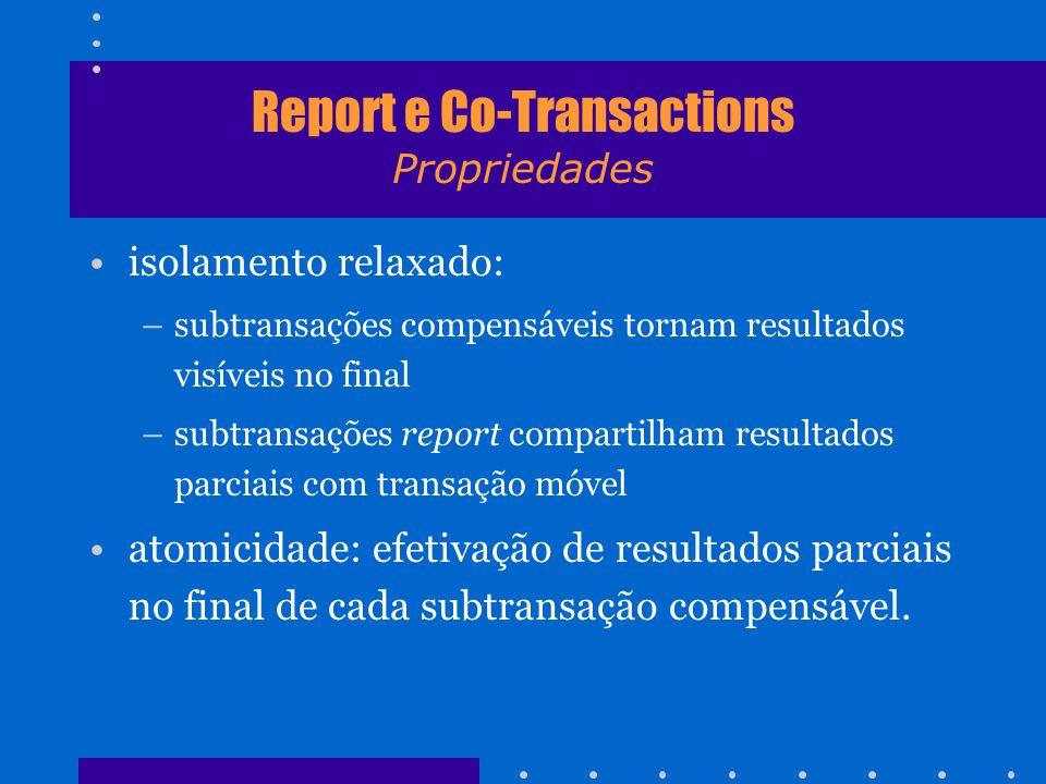 Report e Co-Transactions Propriedades