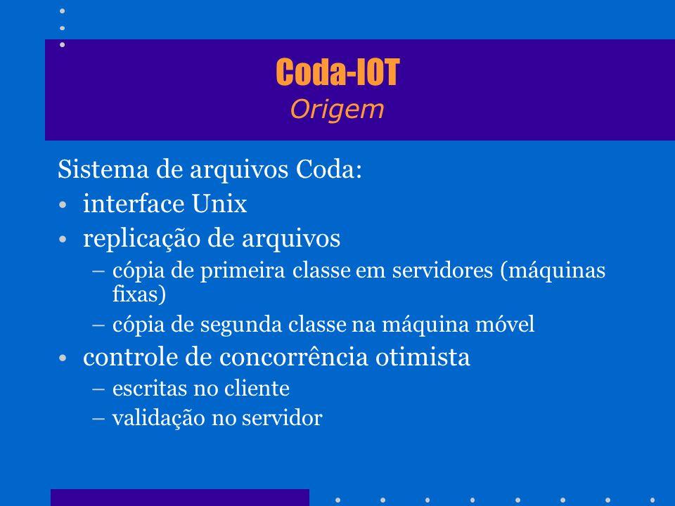 Coda-IOT Origem Sistema de arquivos Coda: interface Unix