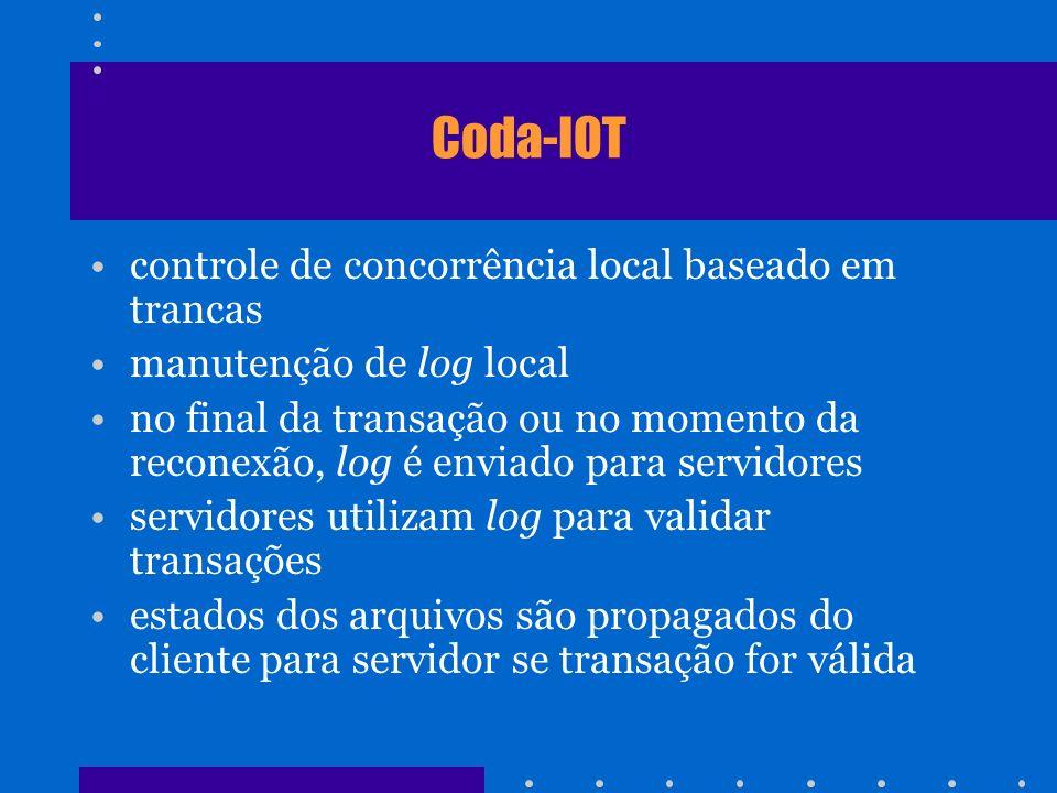 Coda-IOT controle de concorrência local baseado em trancas
