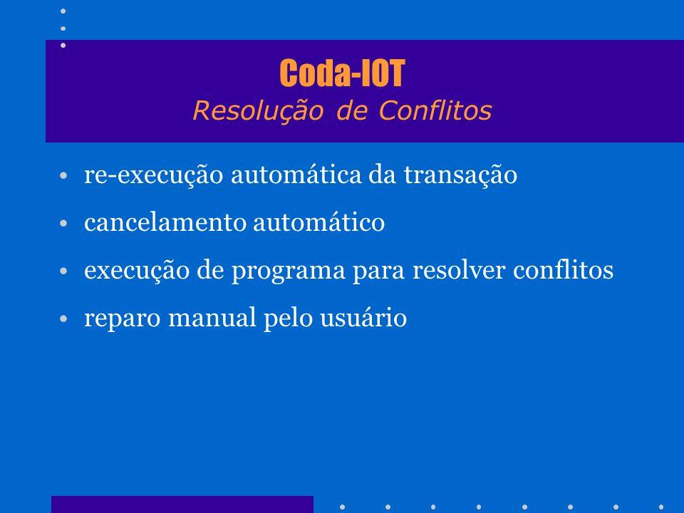 Coda-IOT Resolução de Conflitos