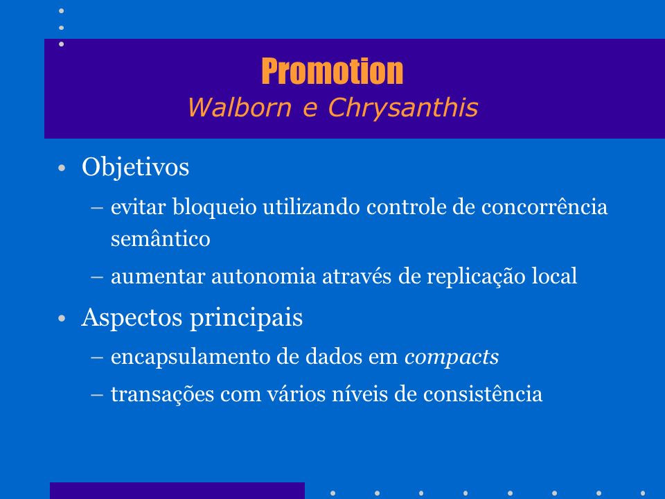 Promotion Walborn e Chrysanthis