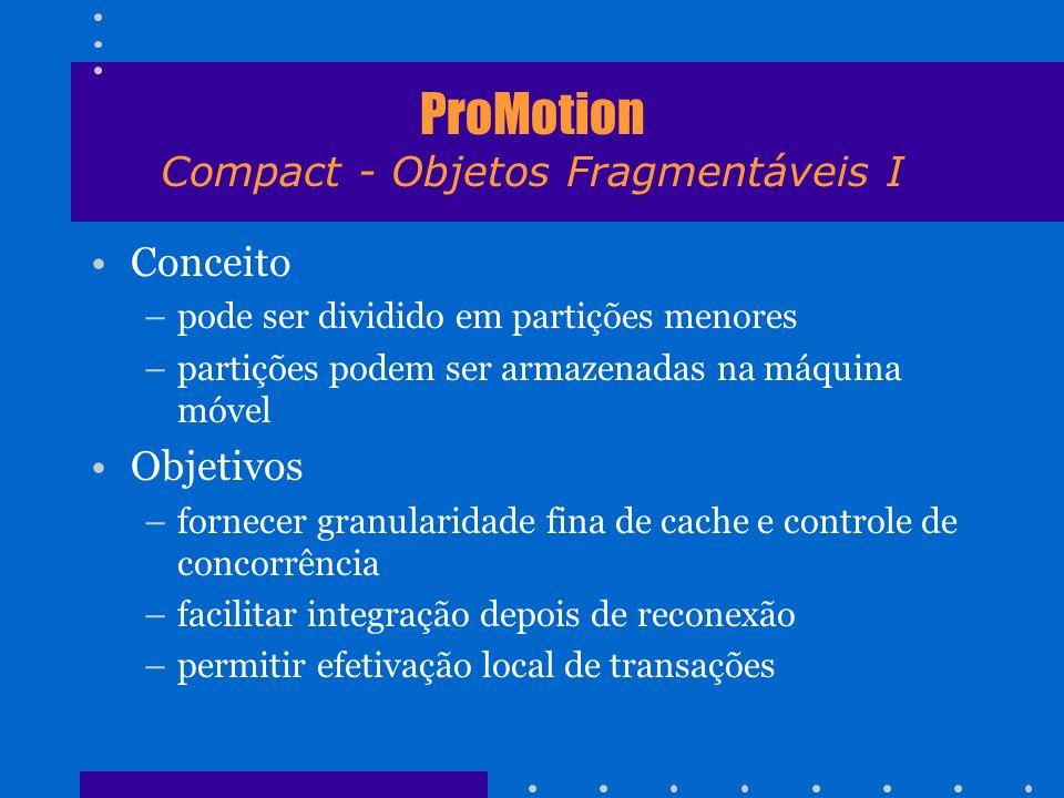 ProMotion Compact - Objetos Fragmentáveis I