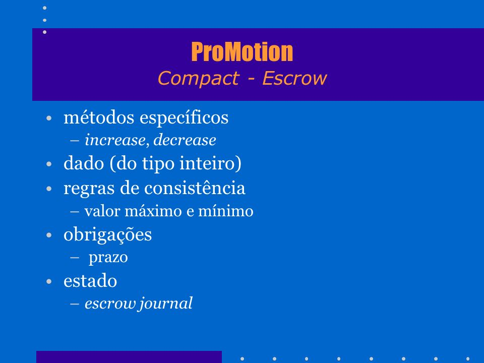 ProMotion Compact - Escrow