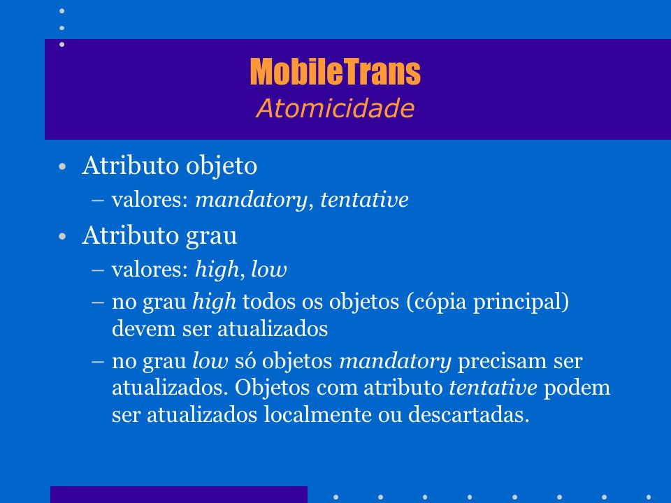 MobileTrans Atomicidade