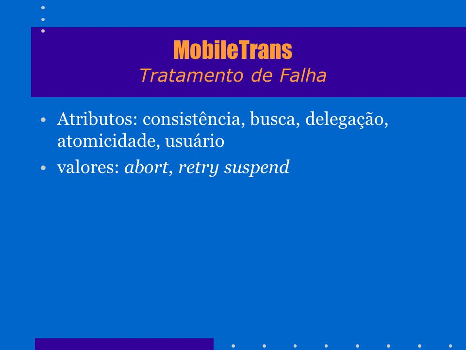 MobileTrans Tratamento de Falha