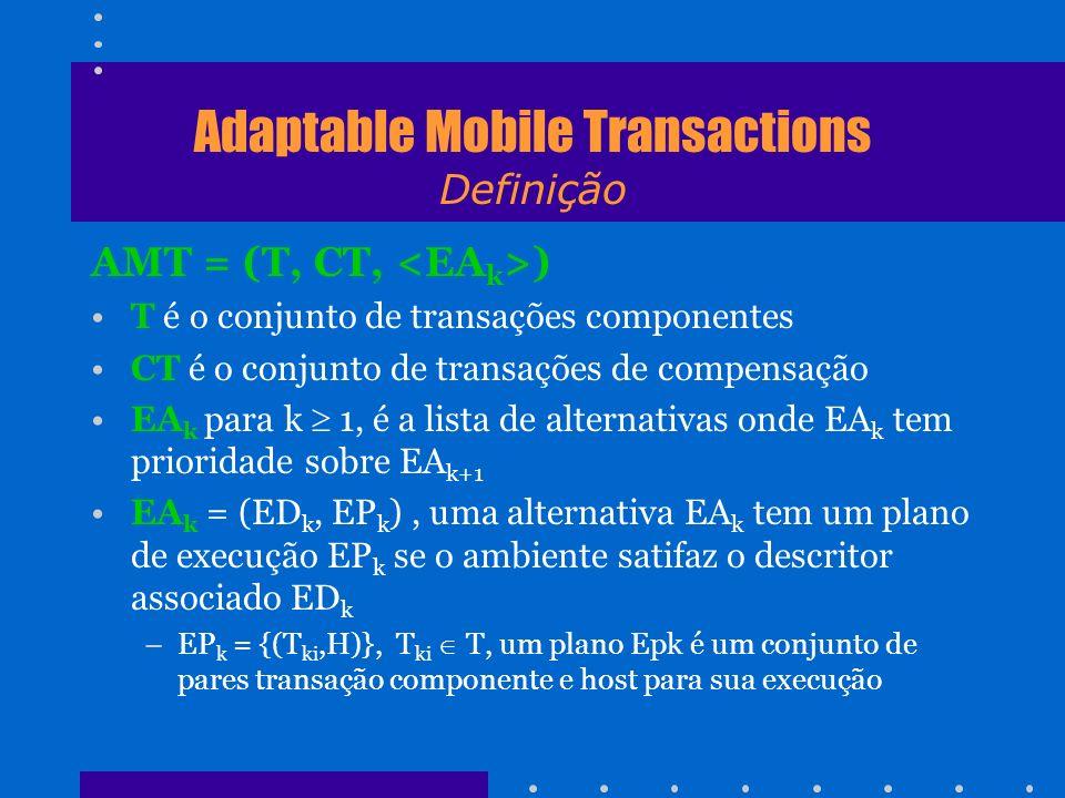 Adaptable Mobile Transactions Definição