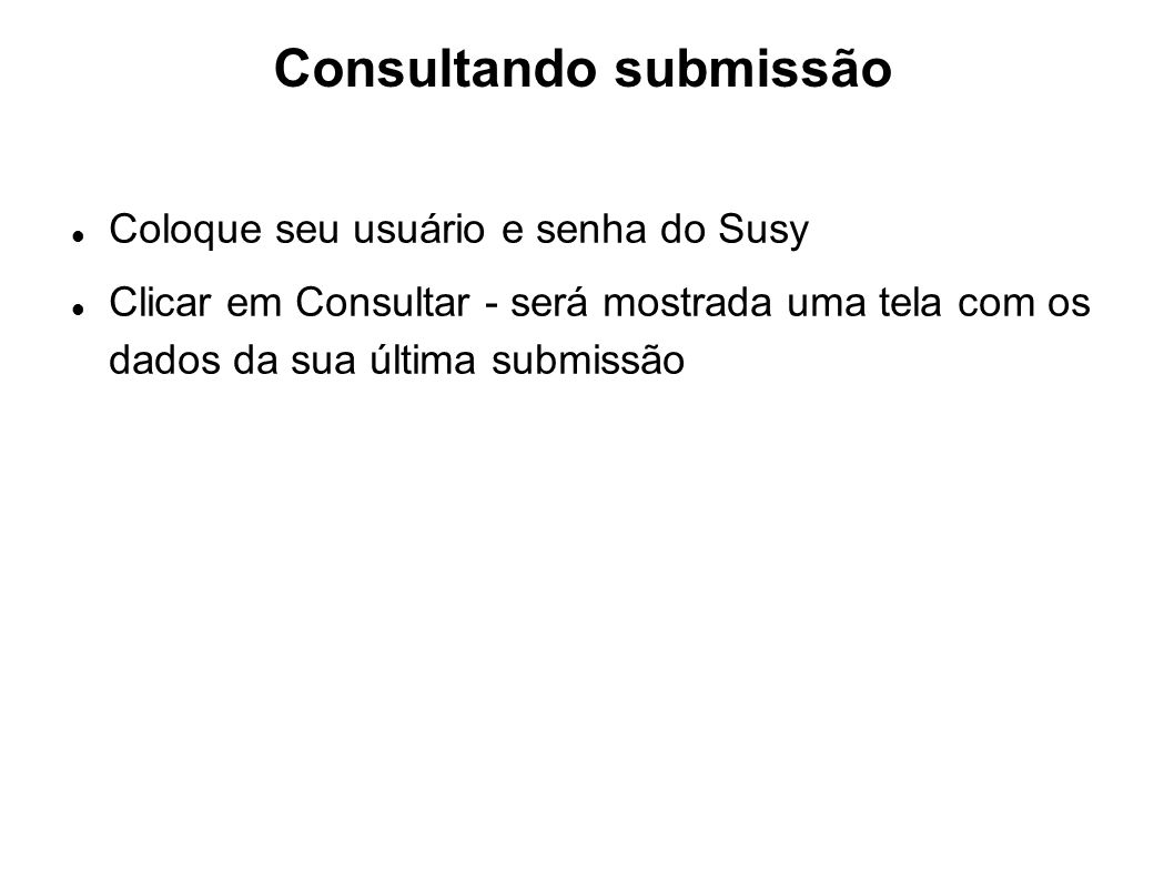 Consultando submissão