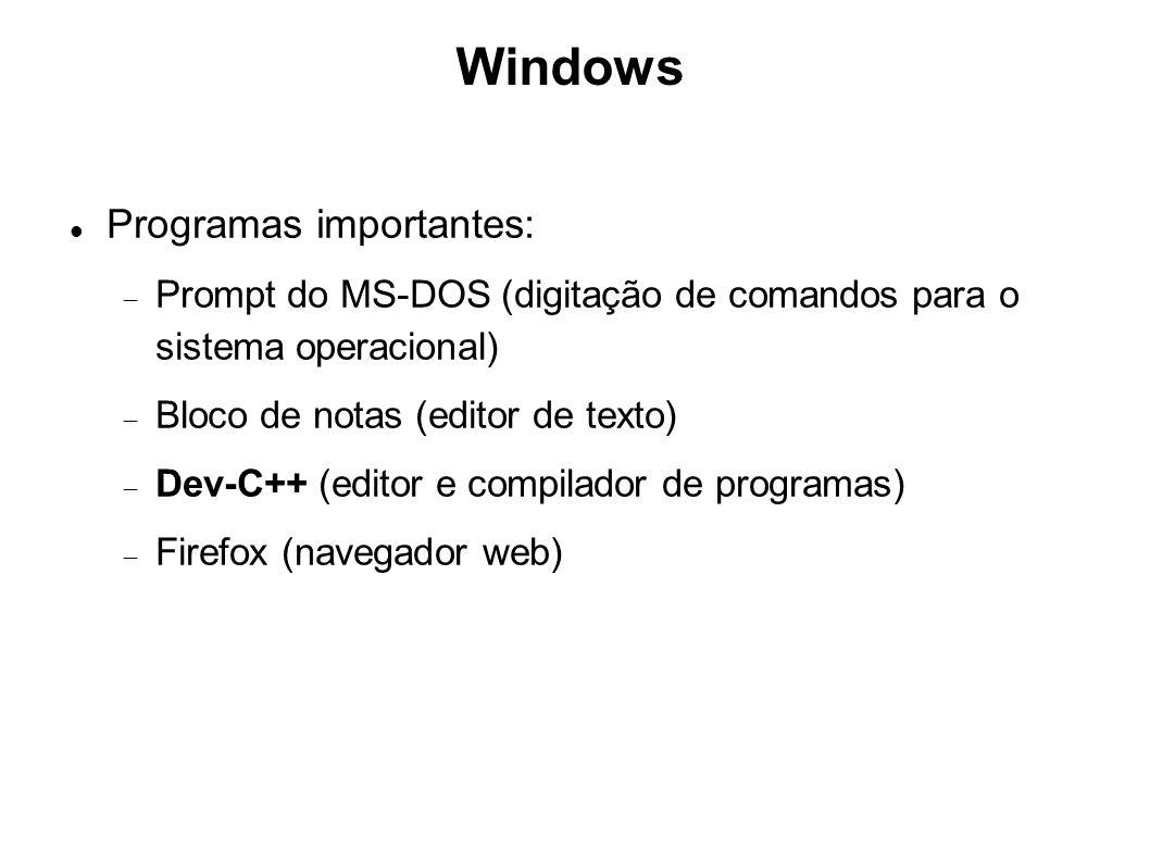 Windows Programas importantes: