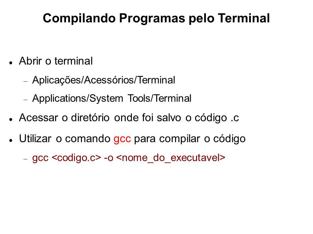 Compilando Programas pelo Terminal