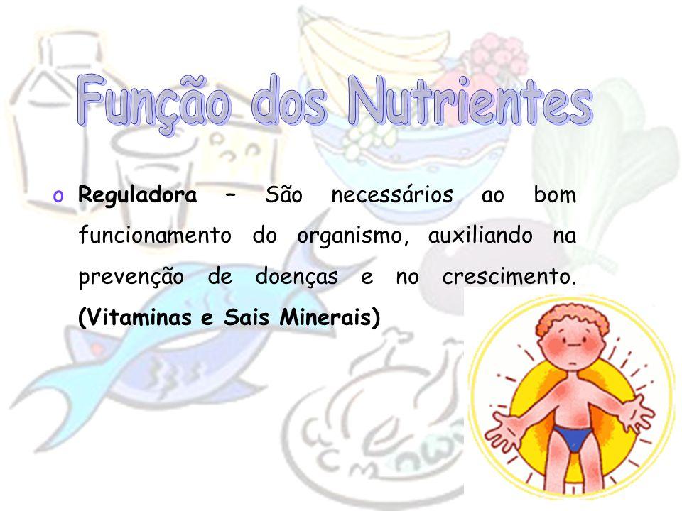 Função dos Nutrientes