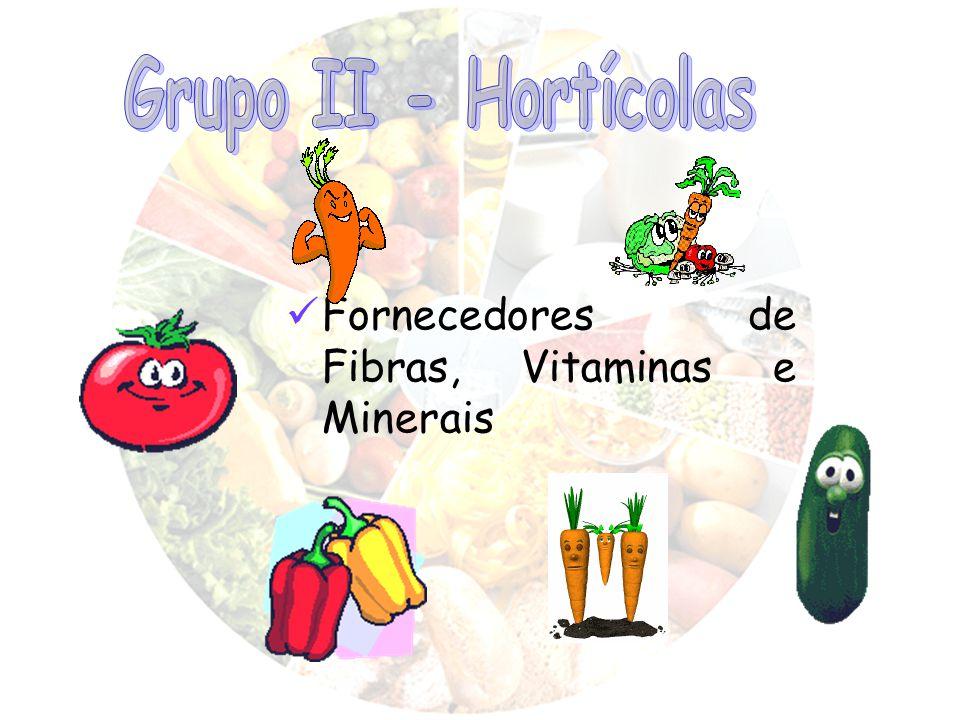 Grupo II - Hortícolas Fornecedores de Fibras, Vitaminas e Minerais