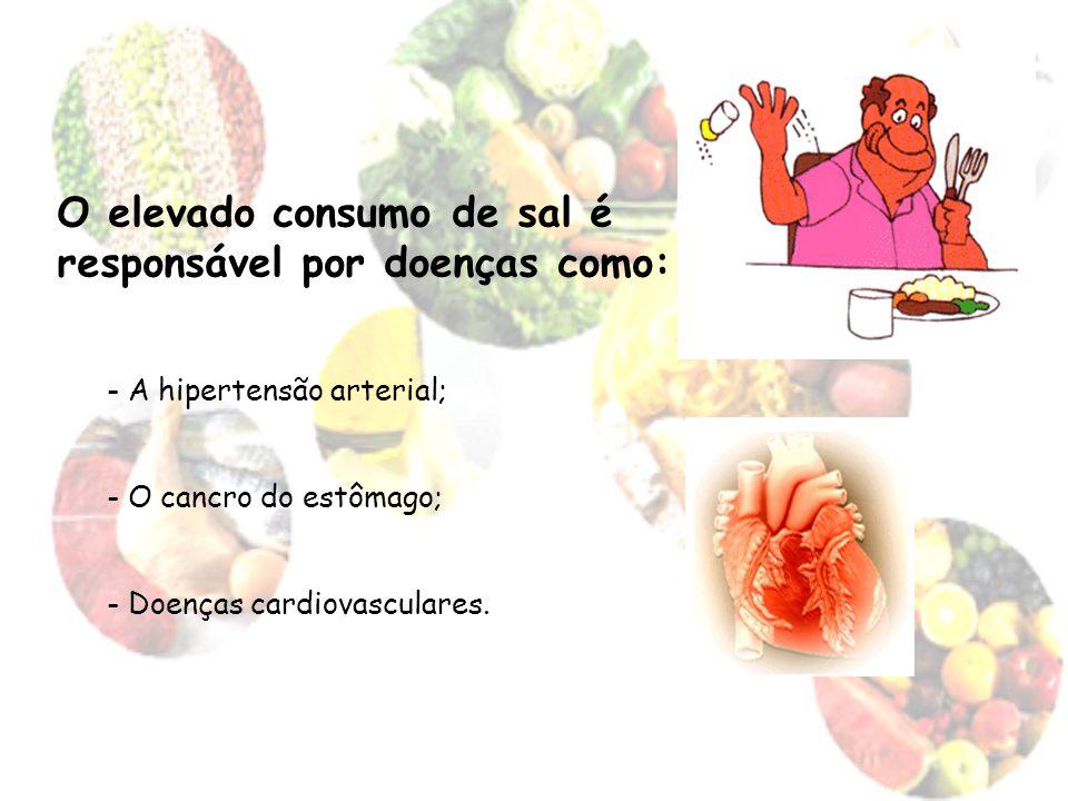 O elevado consumo de sal é responsável por doenças como:
