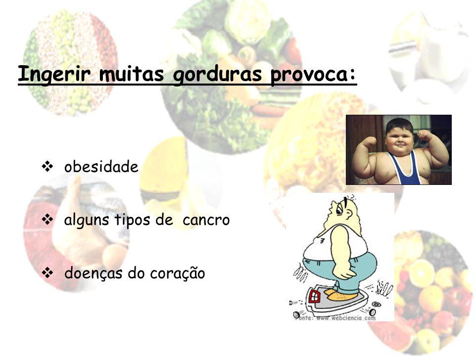 Ingerir muitas gorduras provoca: