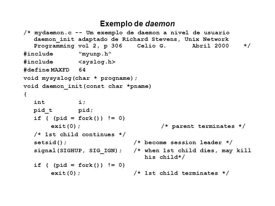 Exemplo de daemon