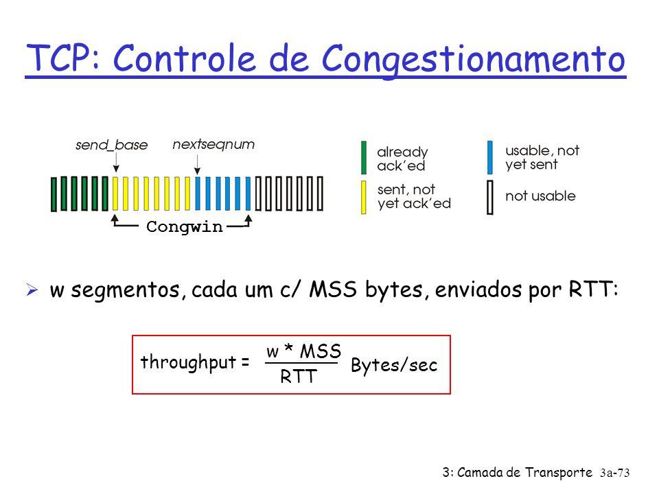 TCP: Controle de Congestionamento