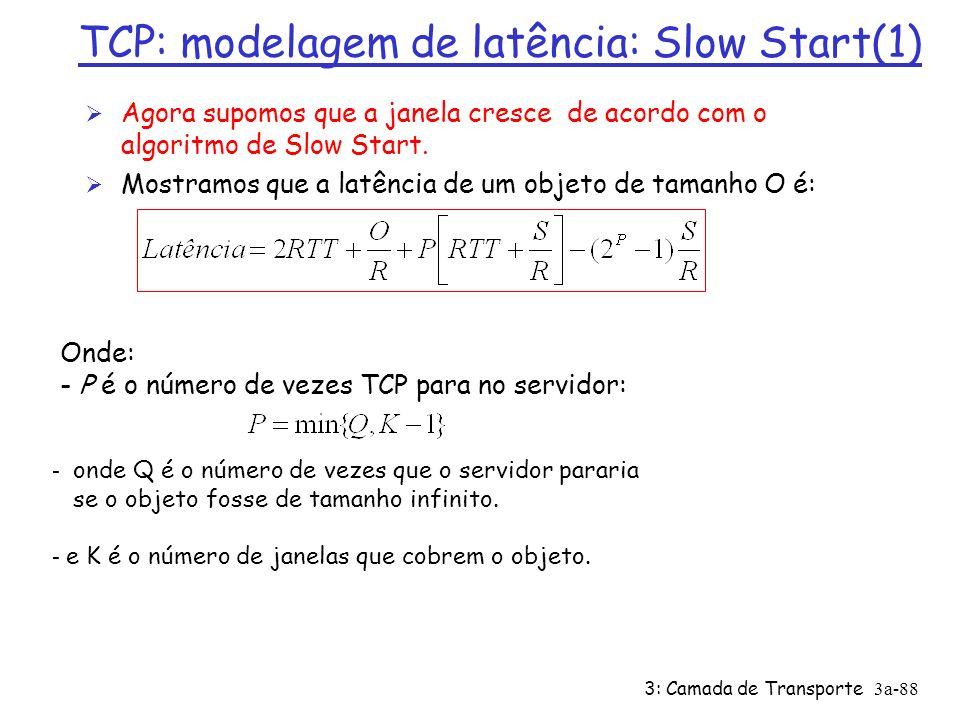 TCP: modelagem de latência: Slow Start(1)