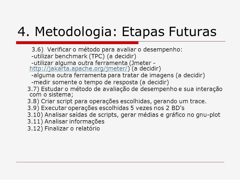 4. Metodologia: Etapas Futuras