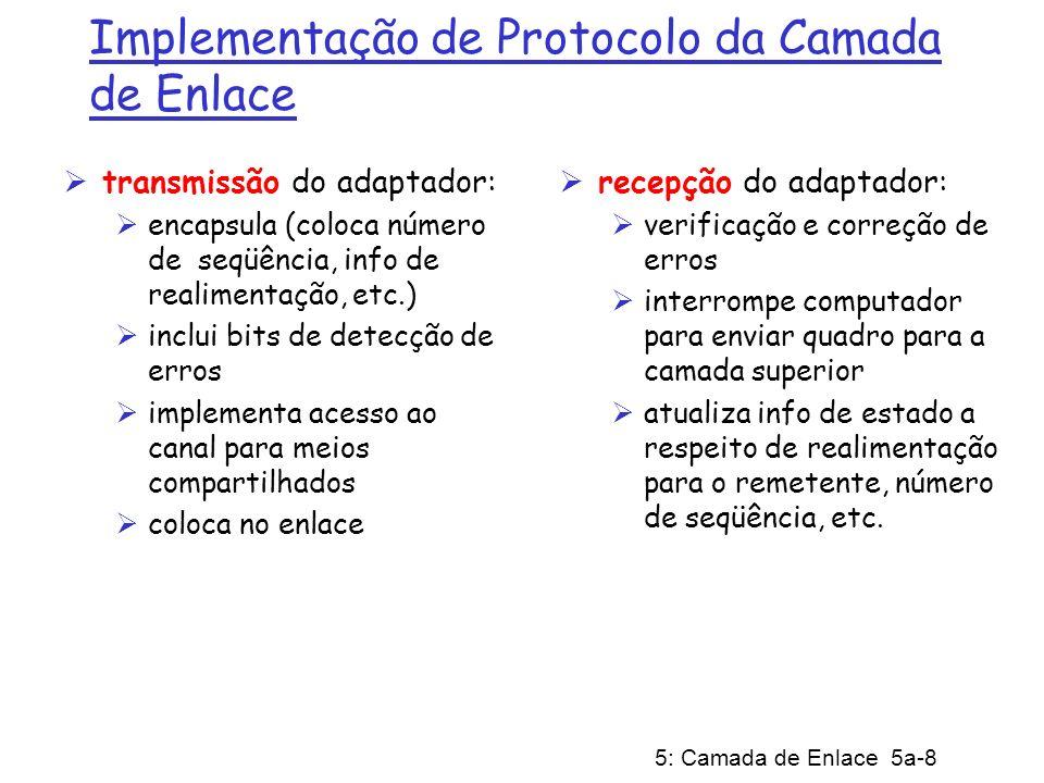 Implementação de Protocolo da Camada de Enlace