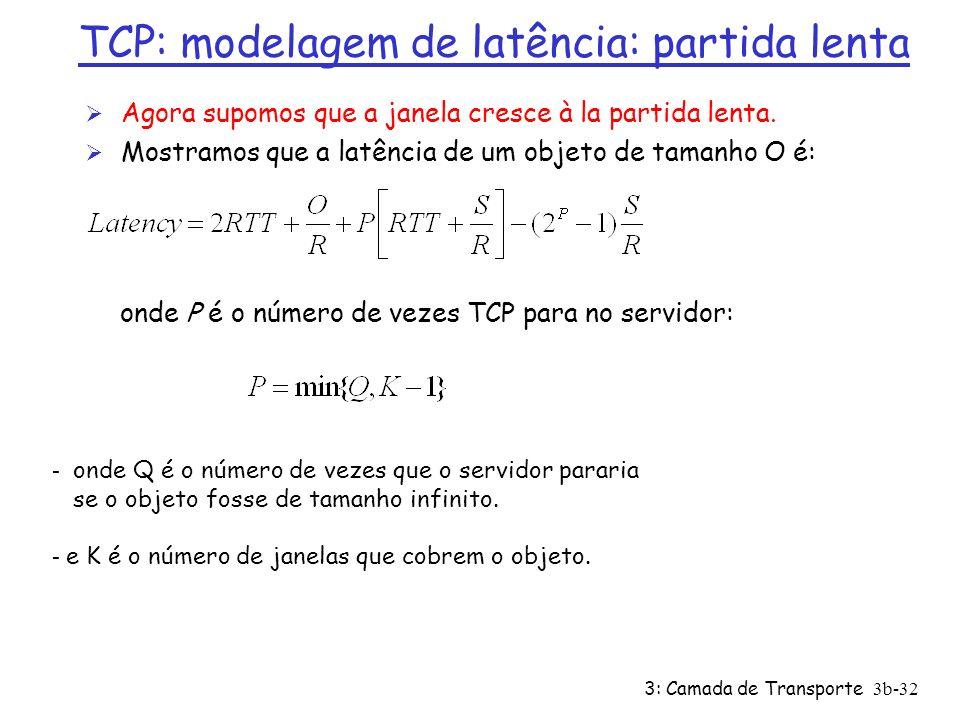 TCP: modelagem de latência: partida lenta