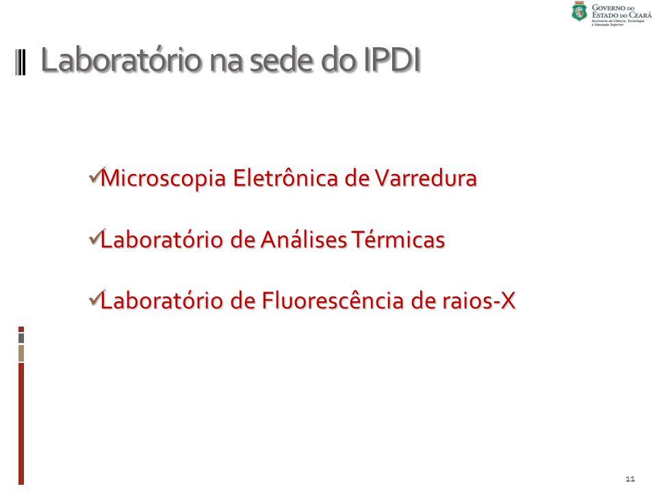 Laboratório na sede do IPDI