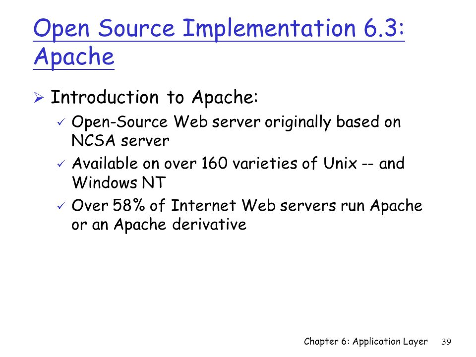 Open Source Implementation 6.3: Apache