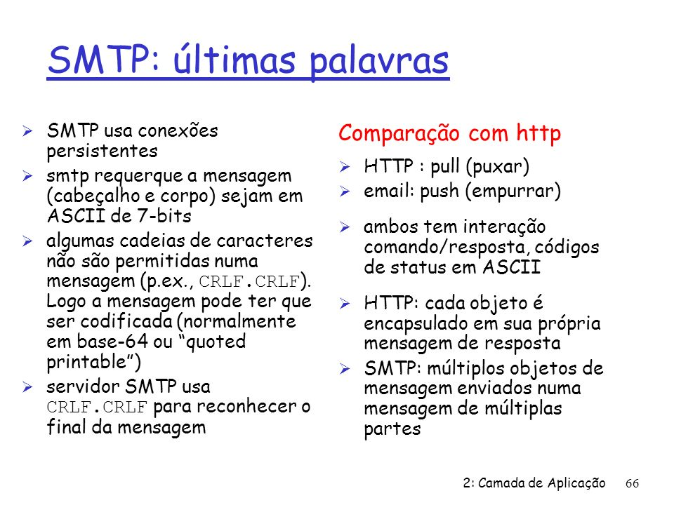 SMTP: últimas palavras