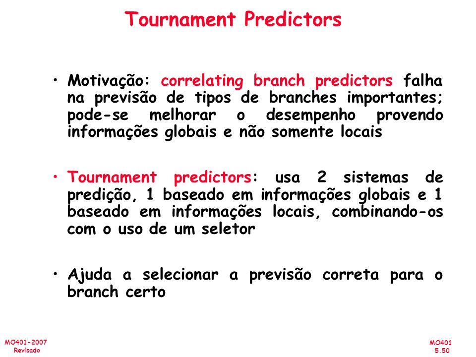 Tournament Predictors