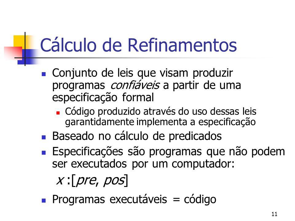 Cálculo de Refinamentos
