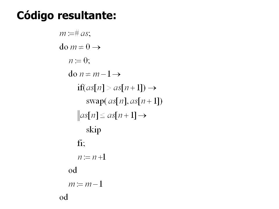 Código resultante: