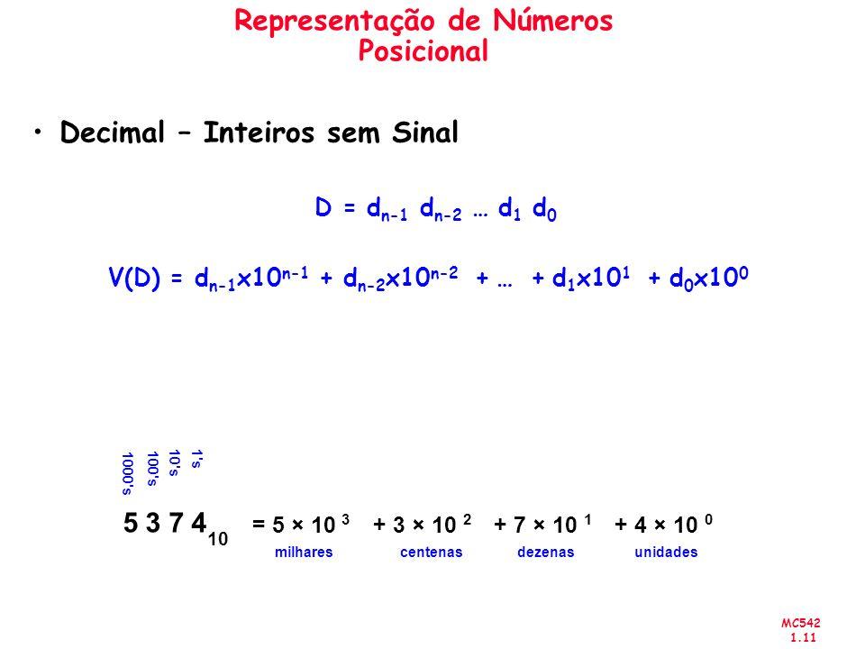 Representação de Números Posicional
