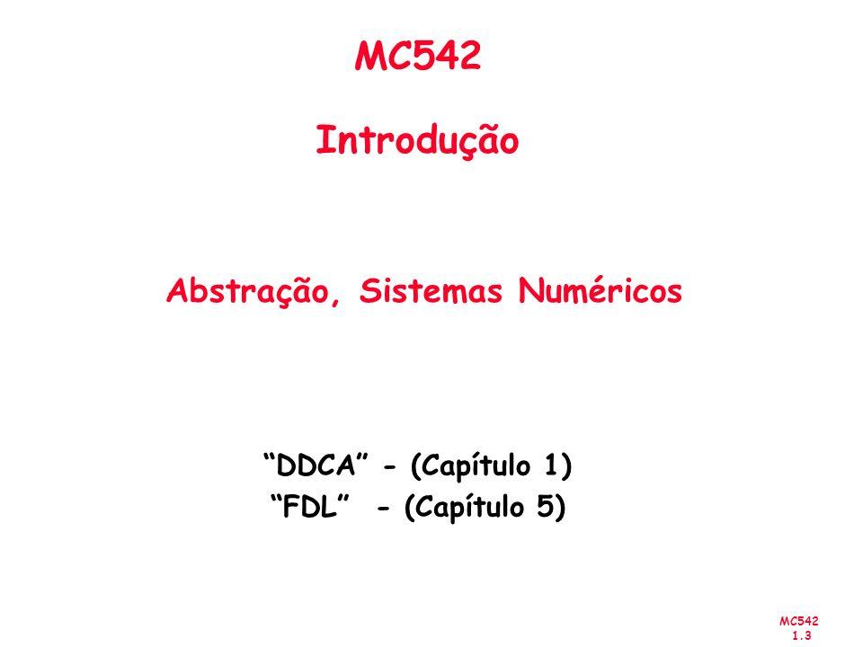 MC542 Introdução Abstração, Sistemas Numéricos