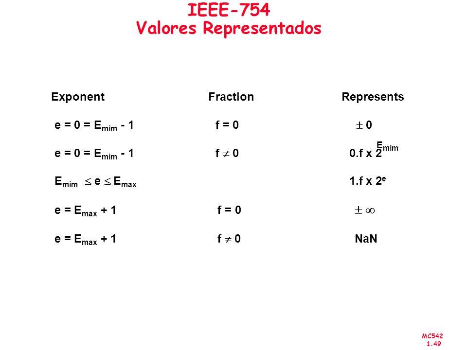 IEEE-754 Valores Representados