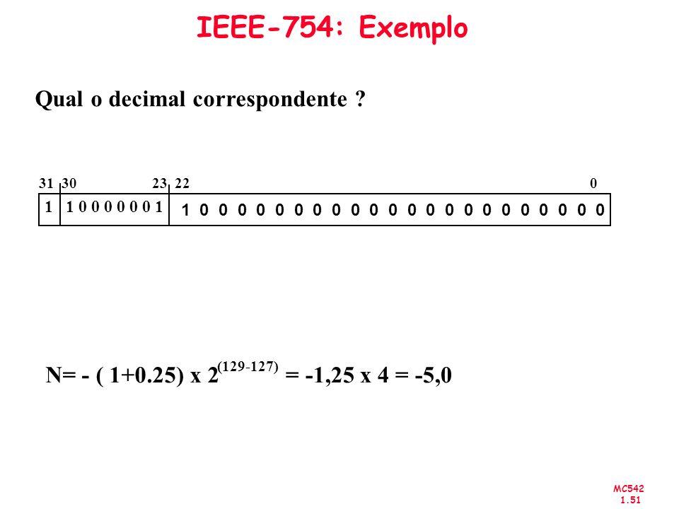 Qual o decimal correspondente