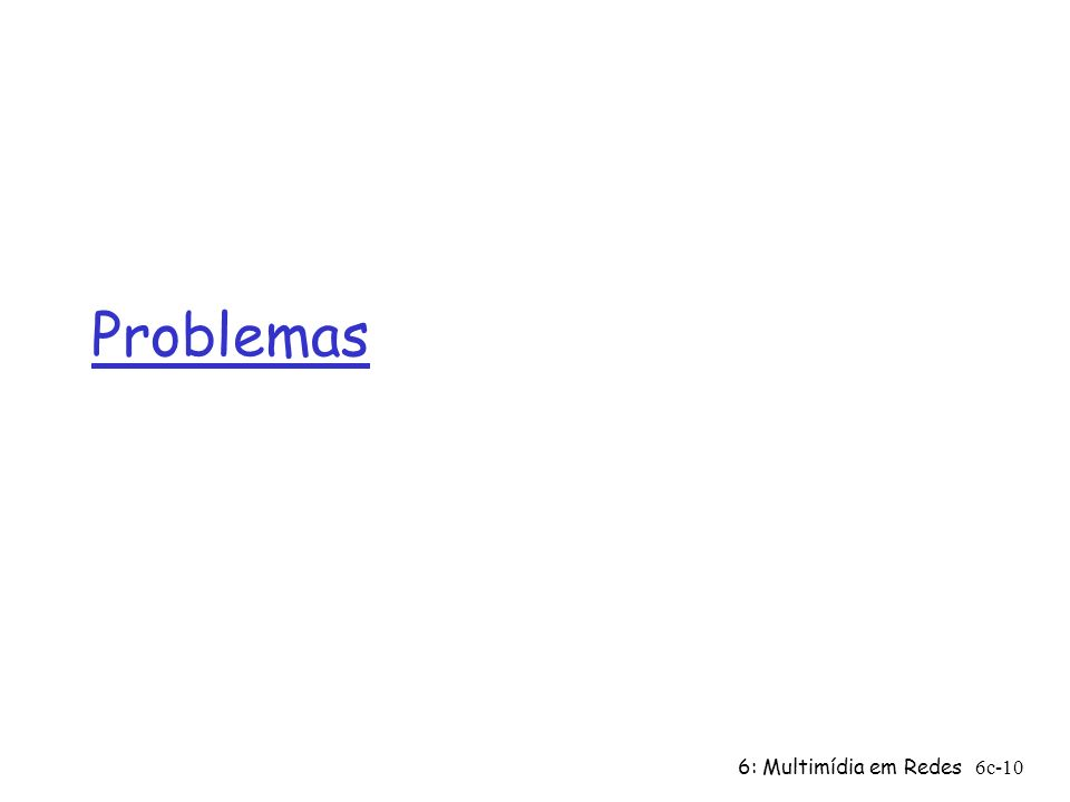 Problemas 6: Multimídia em Redes