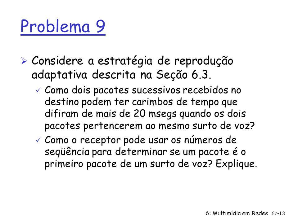 Problema 9Considere a estratégia de reprodução adaptativa descrita na Seção 6.3.